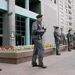 Russia Police Surround Yukos Headquarters In July 2004