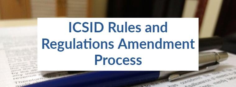 Modificarea normelor ICSID