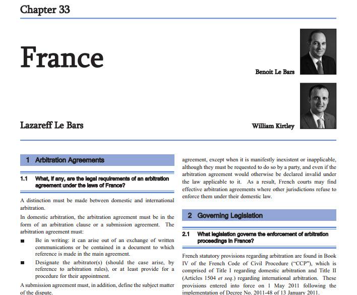 International Arbitration In France