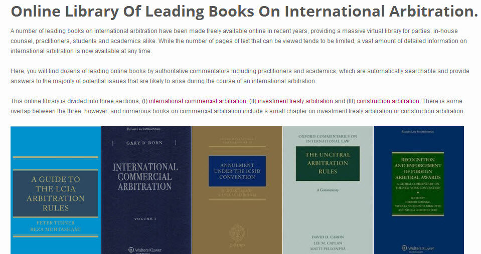 Onlinearbitrationbooks