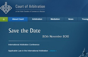 Polish Chamber Of Commerce Arbitration Conference On The Applicable Law In International Arbitration
